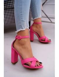 Women's Sandals On High Heel Fluo Fuchsia Telmen - TU133 FLUO FUCHSIA