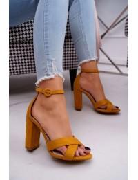 Women's Sandals On High Heel Yellow Telmen - TU133 YELLOW