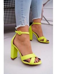 Women's Sandals On High Heel Fluo Yellow Telmen - TU133 FLUO YELLOW