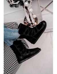 Juodi šilti zomšiniai batai  - BA-2 BLK