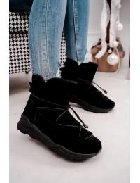 Juodos spalvos šilti patogūs batai - Y-01 BLK