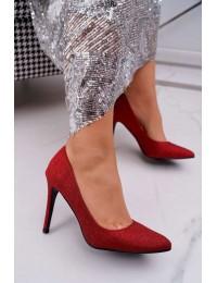 Women s Stilettos Lu Boo With Brocade Red D-57 Valerii - D-57 RED