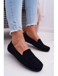 Women s Loafers Suede Black Bolero - T348 BLK