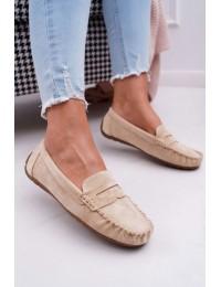Women s Loafers Suede Beige Bolero - T348 BEIGE