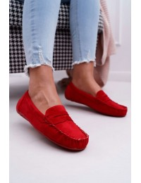 Women s Loafers Suede Red Bolero - T348 RED