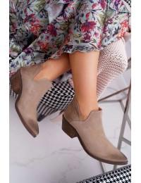 Aukštos kokybės natūralios verstos odos Nicole batai  - 2456 BEŻ/W