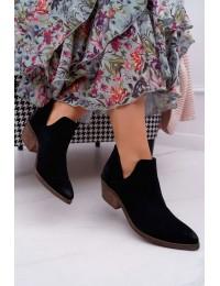 Aukštos kokybės natūralios verstos odos Nicole batai  - 2456 CZARNY/W