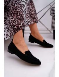 Women's Loafers Suede Black Homny - 2462 CZARNY/W
