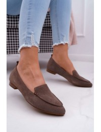 Women's Loafers Suede Cappuccino Homny - 2462 CAPP/W