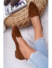 Women's Loafers Suede Cognac Homny - 2462 KONIAK/W