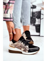 Women s Wedge Sneakers Gold Coledo - 2465 ZŁOTY/Z
