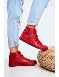 Stilingi raudoni laisvalaikio stiliaus bateliai - V274529 RED