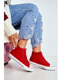Women's Sneakers High Big Star White DD274334 - DD274334 RED