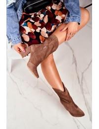Laura Messi natūralios odos aukštos kokybės batai - 2123 KHAKI 274