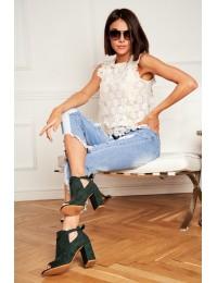 Originalaus dizaino madingi batai atviru priekiu - YQE19-1751 GREEN