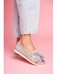 Women s Loafers Leather Grey Bebbo - 20PB32-1833 LT.GREY