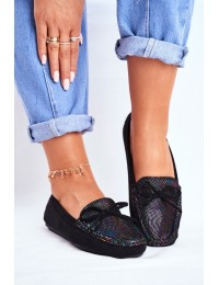 Women s Loafers Suede S.Barski A199 Black Wannabe - A199-C BLK