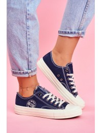 Women's Sneakers Big Star Navy Blue FF274125 - FF274125 NAVY