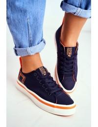 Women's Sneakers Big Star Navy Blue FF274A070 - FF274A070 NAVY ORANGE