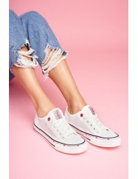 Stilingi jaunatviško stiliaus bateliai Cross Jeans White  - FF2R4016C WHITE