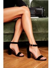 Women's Sandals On High Heel Laura Messi Leather Black Iliady 1760  - 1760 BLK 081