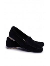 Women s Loafers Sergio Leone Suede Black MK722 - MK722 BLK MIC