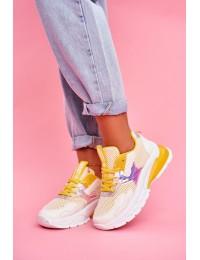 Madingi patogūs batai kasdienai - LA82 YELLOW