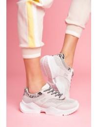 Stilingi švelnios pilkos spalvos patogūs sportinio stiliaus batai - BL192 GREY