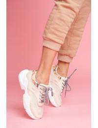 Stilingi švelnios smėlio spalvos patogūs sportinio stiliaus batai - BL192 BEIGE