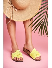 Women's Flip-flops Bows Fluorescent Yellow Felis - CK115 FLUO YELLOW