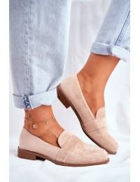 Women's Brogues Loafers Suede Beige Cintra - T366 BEIGE