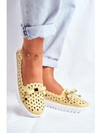 Women's Loafers Leather LR71515 Yellow Murrieta - LR71515 YELLOW