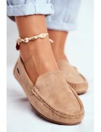Women s Loafers Suede Beige Morreno - 20PB26-2190 BEIGE