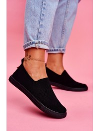 Women's Sneakers Slip-on Big Star Black FF274A609 - FF274A609 BLK