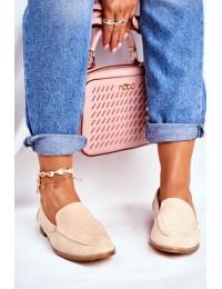 Women's Brogues Slip-on Loafers Suede Beige Twinky - T359 BEIGE
