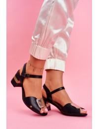 Women's Sandals Maciejka Leather Black 04120-01/00-5 - 04120-01/00-5 BLK