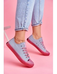 Women's Sneakers Big Star Blue Pink FF274260 - FF274260 BLUE