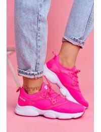 Women's Sport Shoes Sneakers Big Star Neon Pinkk FF274931 - FF274931 PINK