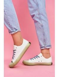 Balti stilingi bateliai - FF274256 WHITE