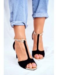 Women's Sandals On High Heel Black 280-58 Move On Me - 280-58 BLK