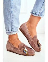Women's Loafers Maciejka Leather Beige 04494-04/00-5 - 04494-04/00-5 BEŻ BRUDNY