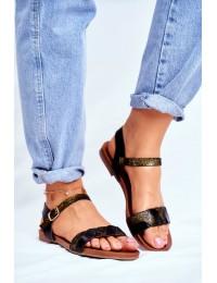 Women s Sandals Flat Black Summer Vibes - 541-144 BLK