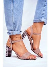 Women's Sandals On Heel Pink Barski Baskila - LJ261 PINK