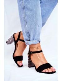 Women's Sandals On Heel Black Barski Baskila - LJ261 BLK