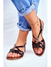 Women's Sandals Flat Pewter Barski Lomba - 729-43 PEWTER