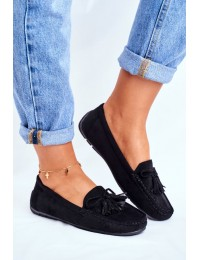 Women s Loafers Suede 20PB35-2003 Black Donna Mia - 20PB35-2003 BLK