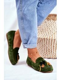 Women's Loafers Maciejka Leather Green 04494-09/00-5 - 04494-09/00-5 ZIELONY