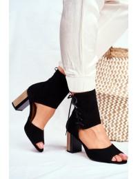 Women s Sandals On High Heel Maciejka Leather Black 04122-01 - 04122-01/00-5 CZARNY