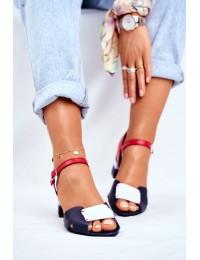 Women's Sandals Maciejka Leather Navy 04120-17/00-5 - 04120-17/00-5 GRANAT