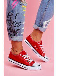 Women's Classic Sneakers Red Omerta  - XL03 RED